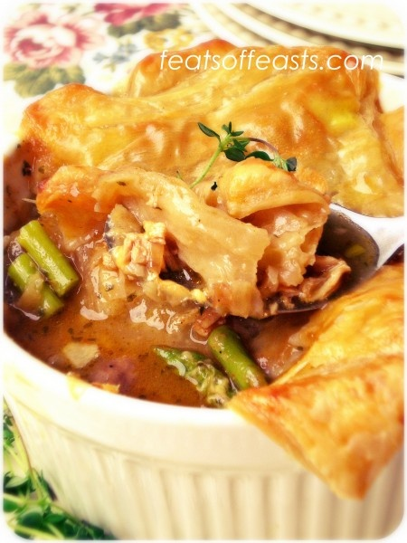 Cheddar Chicken Pot Pies | Feats of Feasts Board 5 | Pinterest