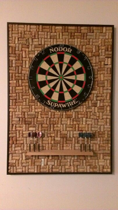 Wine cork dart board did it myself pinterest for Making a cork board from wine corks