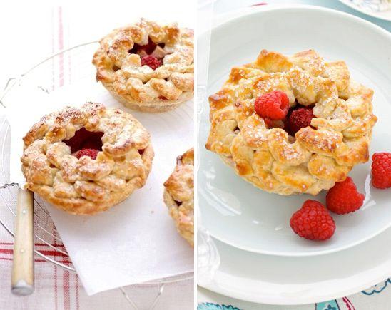 pear & raspberry mini pies