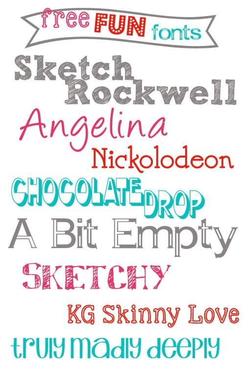 Free Fun Fonts Printable Fonts Borders Scrapbook Paper