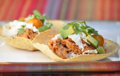Slow-cooker chili chicken tacos | I want you in my belly! (Lunch, Din ...