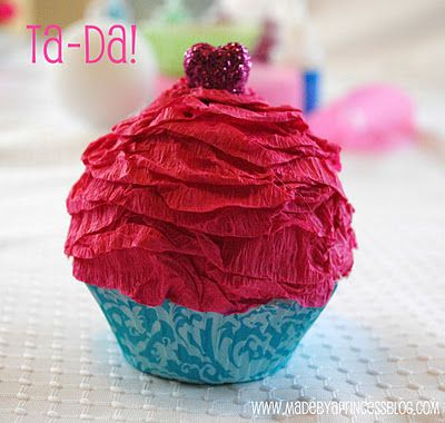 Fake Cupcakes: How to make fake cupcakes without a trip to Home Depot!