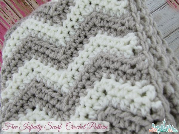Free Chevron Infinity Scarf Crochet Pattern Seattle Lifestyle Blog