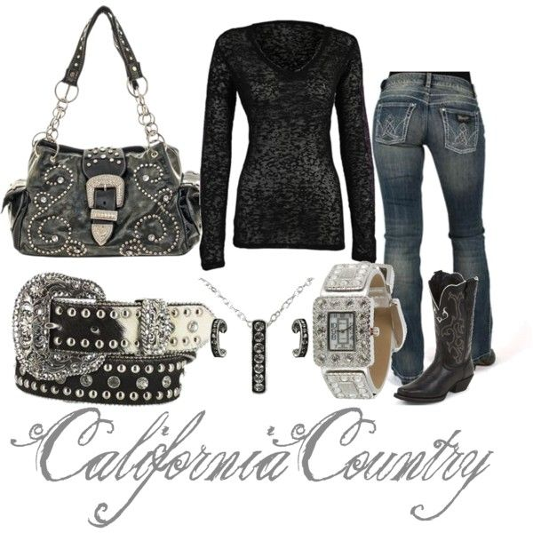 Rhinestone Cowgirl, created by californiacountry on Polyvore