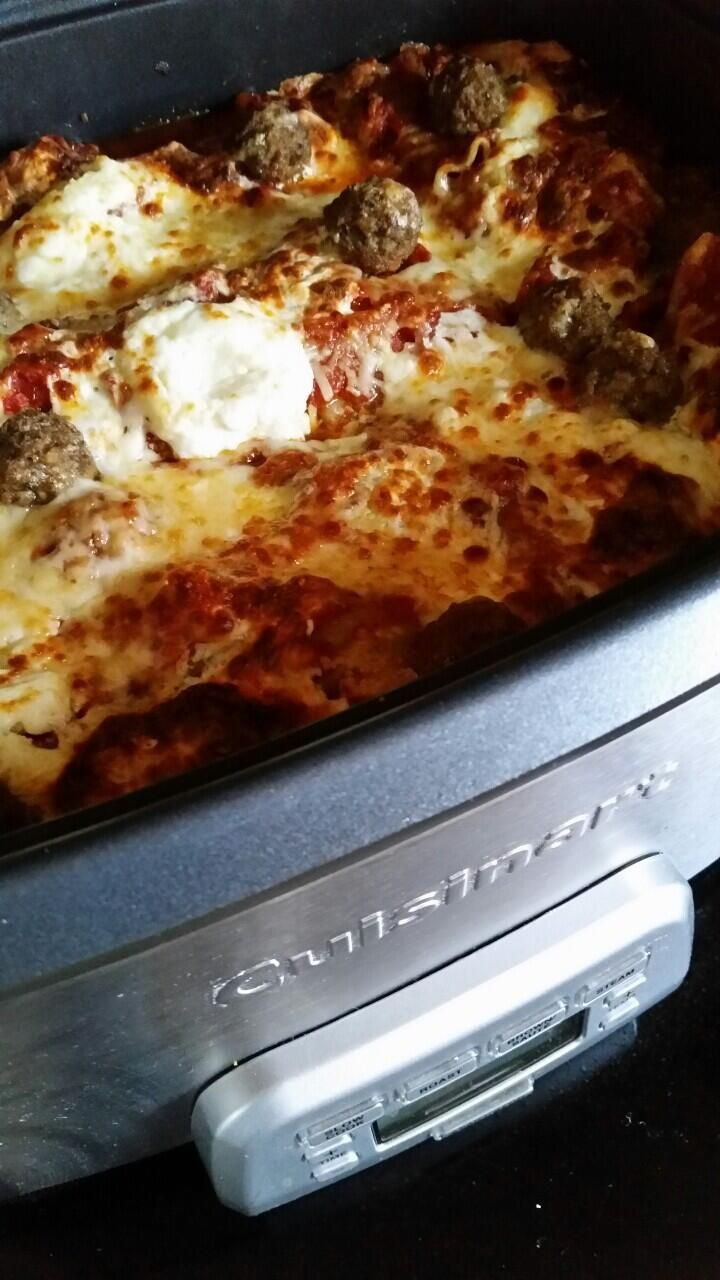 Slow Cooker Meatball Lasagna is done! | Pinterest Food Inspirations ...
