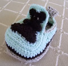 BABY LOAFERS BOOTIES, age 1 year, CROCHET PATTERN, video