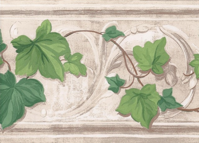 Interior Place - Stone Grape Vines Wallpaper Border, $12.99 (http ...