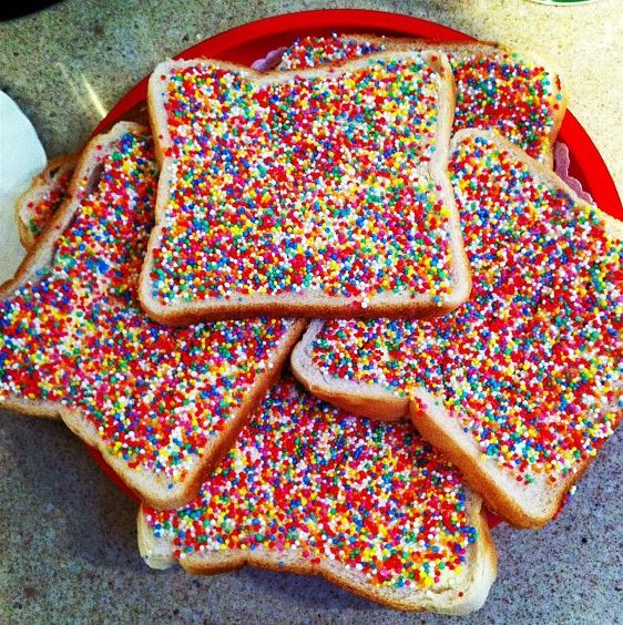Watch How to Make a Fairybread Sandwich video