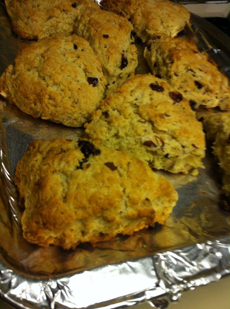 Almond and cranberry scones | Dev'ine Cooks | Pinterest