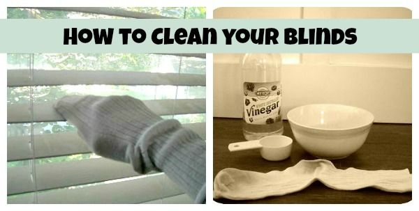 how to clean your blinds