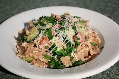 Zucchini Carbonara #zucchini | I love zucchini | Pinterest