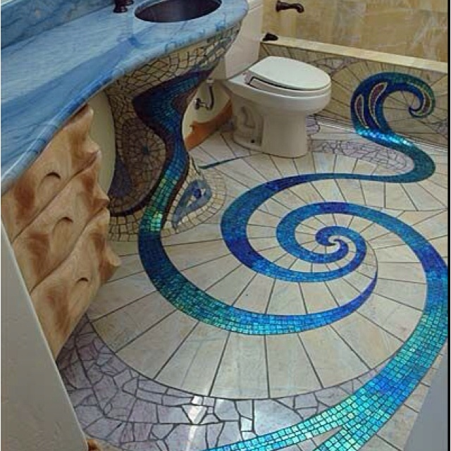 Innovative Bathroom Floor Tiles Ideas You Should Try DigsDigs Unique Bathroom