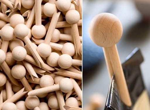 """Pinchy"" Wooden Clip — ACCESSORIES -- Better Living Through Design"