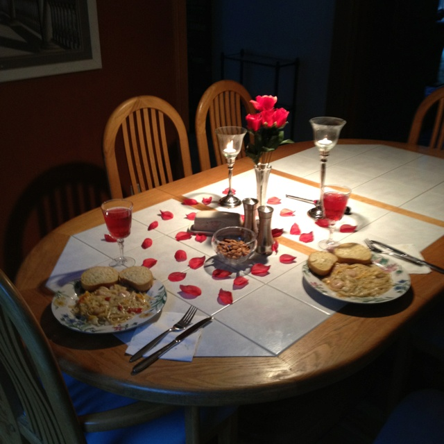 A romantic dinner at home romantic nights pinterest for Romantic dinner recipes for two at home