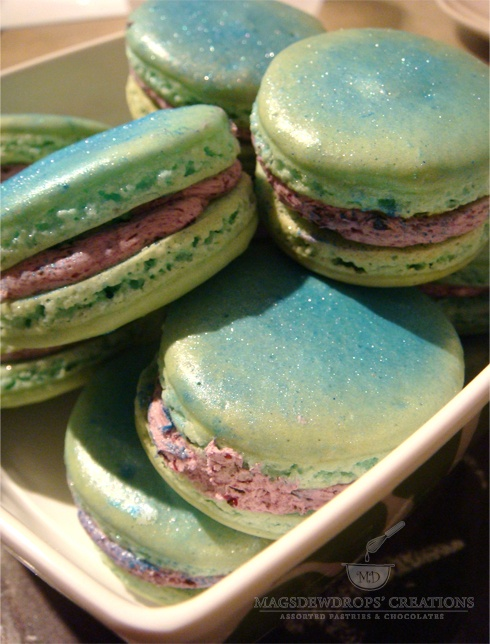 Blueberry Sorbet Macarons Recipes — Dishmaps