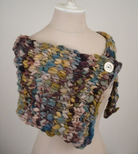 ... thin handspun wool capelet/wrap - happy knitting! :) full-time-etsy