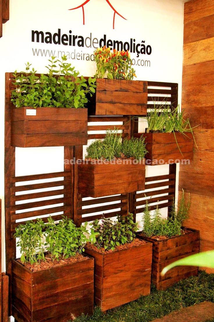 trelica de madeira jardim vertical ? Doitri.com
