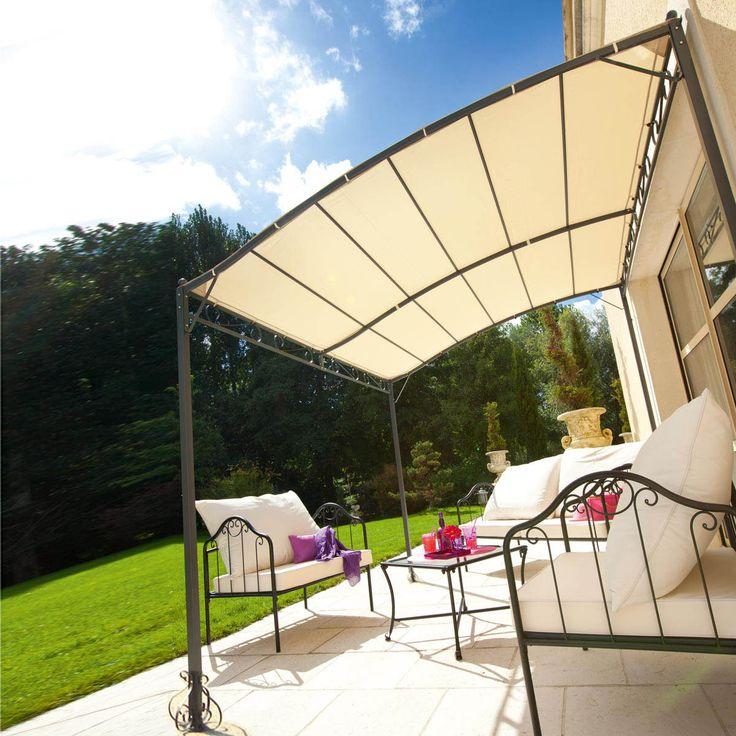 tonnelle blanche pas cher perfect excellent tonnelle. Black Bedroom Furniture Sets. Home Design Ideas