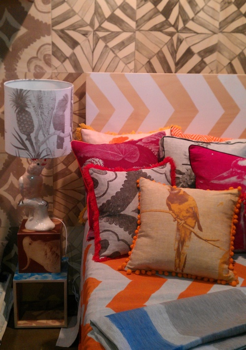 bright and a little bit rustic cushions