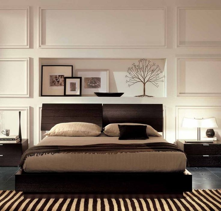 Wall Decoration Behind Bed : Wall behind bed home decor