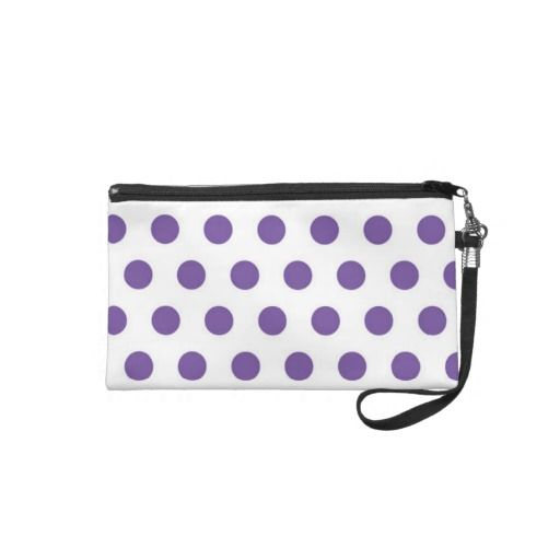 Purple Polka Dot Wrist Bag Wristlet Clutches