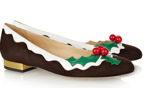 Charlotte Olympia -- holly suede and patent-leather flats....yes, please!