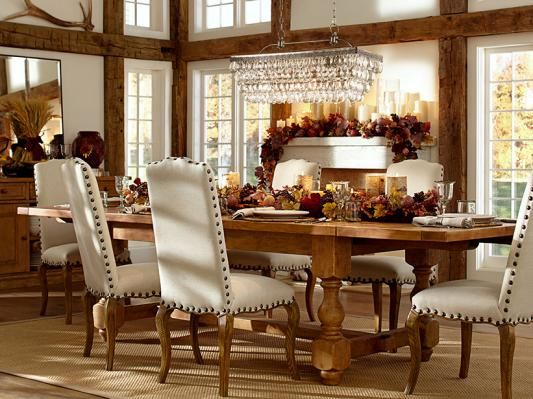 chairs table esp the chandelier dining room design pottery barn