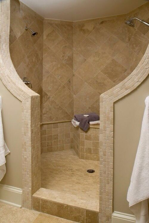 walk in shower with no door for the home pinterest