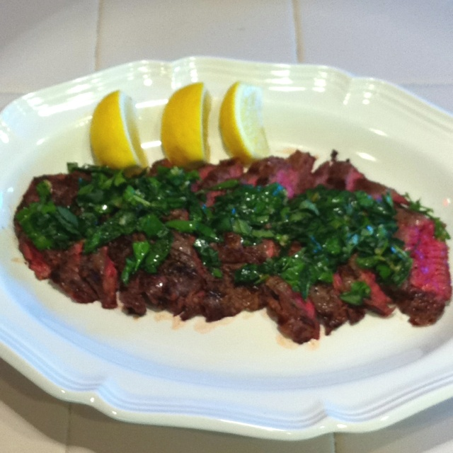 Grilled Skirt Steak With Herb Salsa Verde Recipes — Dishmaps