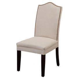 chair showcases linen upholstery and nailhead trim product chair