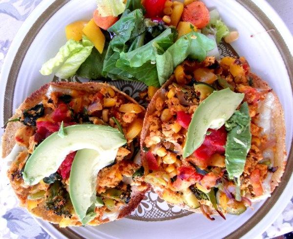 Tofu Scramble Tostadas | Vegan Breakfast Yum | Pinterest