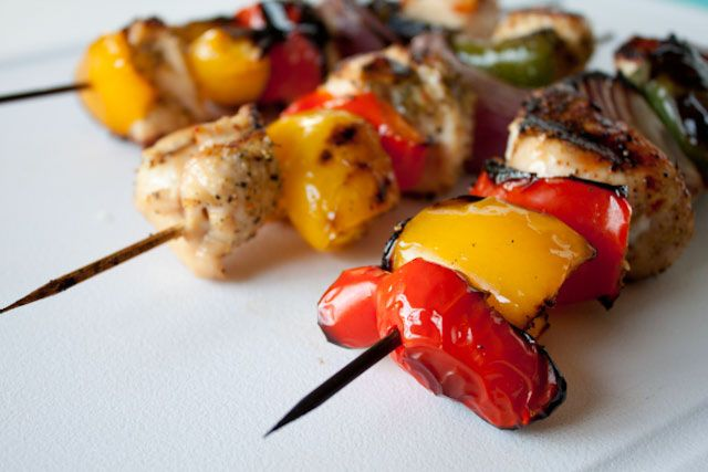 Grilled Chicken Kabobs with Simple Lemon Orange Marinade