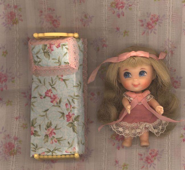 Liddle Kiddle    Beddy-Bye Biddle  in her Original Bed