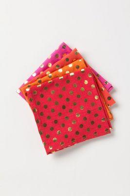 Foiled Dot Napkin Set