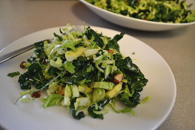 Fork and Vine: Kale and Brussel Sprout Slaw, Tuscan Inspired