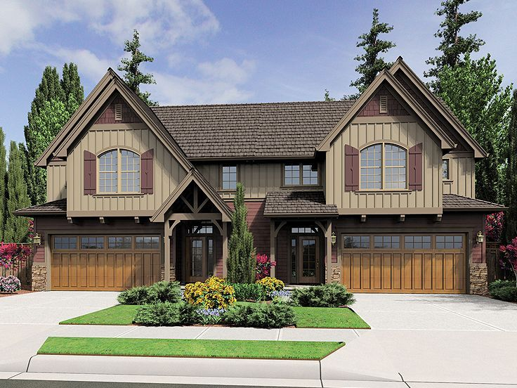 Multi Family House Plan 034m 0022 Home Plans Pinterest