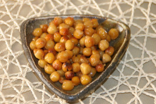 Honey Roasted Garbanzo (Chickpeas) Beans | Kid Food | Pinterest