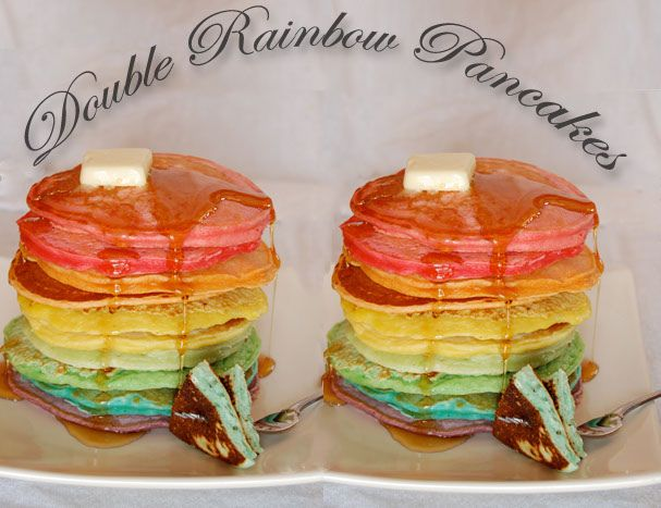Double rainbow pancakes! | Cool stuff | Pinterest