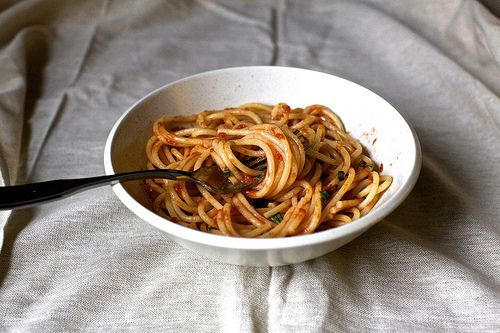 naked tomato sauce. like the sauce at scarpetta's, which i've heard i...