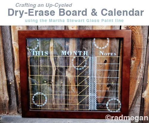 Diy Glass Calendar : Diy tutorial glass dry erase board and calendar