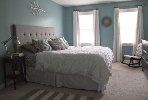 aqua blue and gray bedroom mi casa pinterest