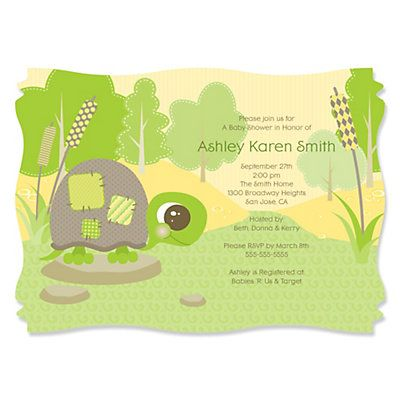 Turtle Baby Shower Invitations could be nice ideas for your invitation template