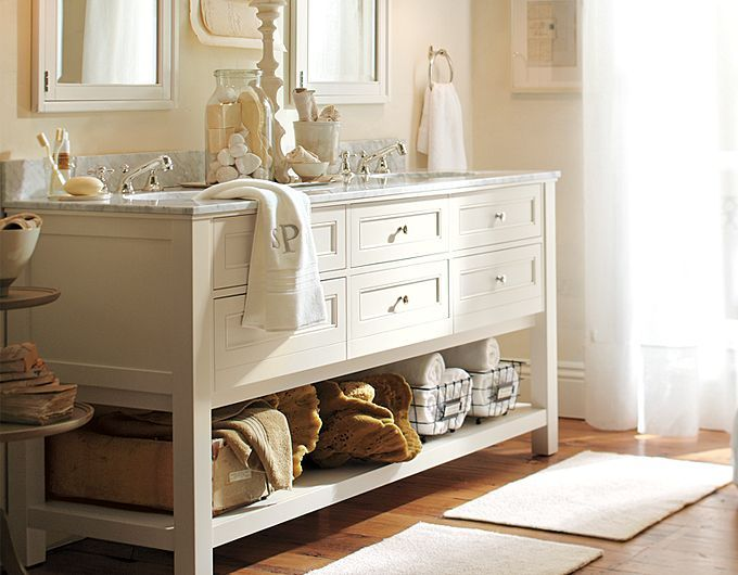 Beautiful vanity pottery barn for the home pinterest for Pottery barn bathroom designs