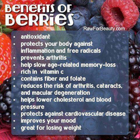 Berries benefits health pinterest