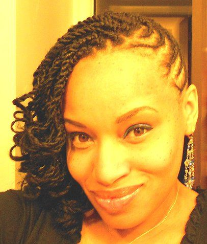 Side Swept cornrows with a twist Knotty hair n styles Pinterest