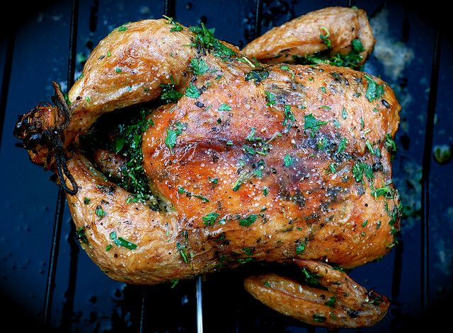 oven roasted chicken with herb butter | Repeat Recipes | Pinterest