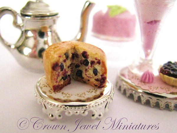 Blueberry tea cake | Miniatures | Pinterest