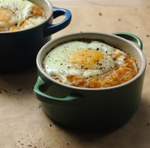 Coddled Egg with Crab, Bacon and Leeks.  Another egg and crab dish.  Made the Crab and poached egg over the weekend and it rocked, especially with a Rose'