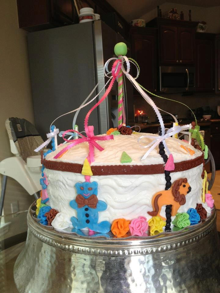 Baby Shower Carousel Cake