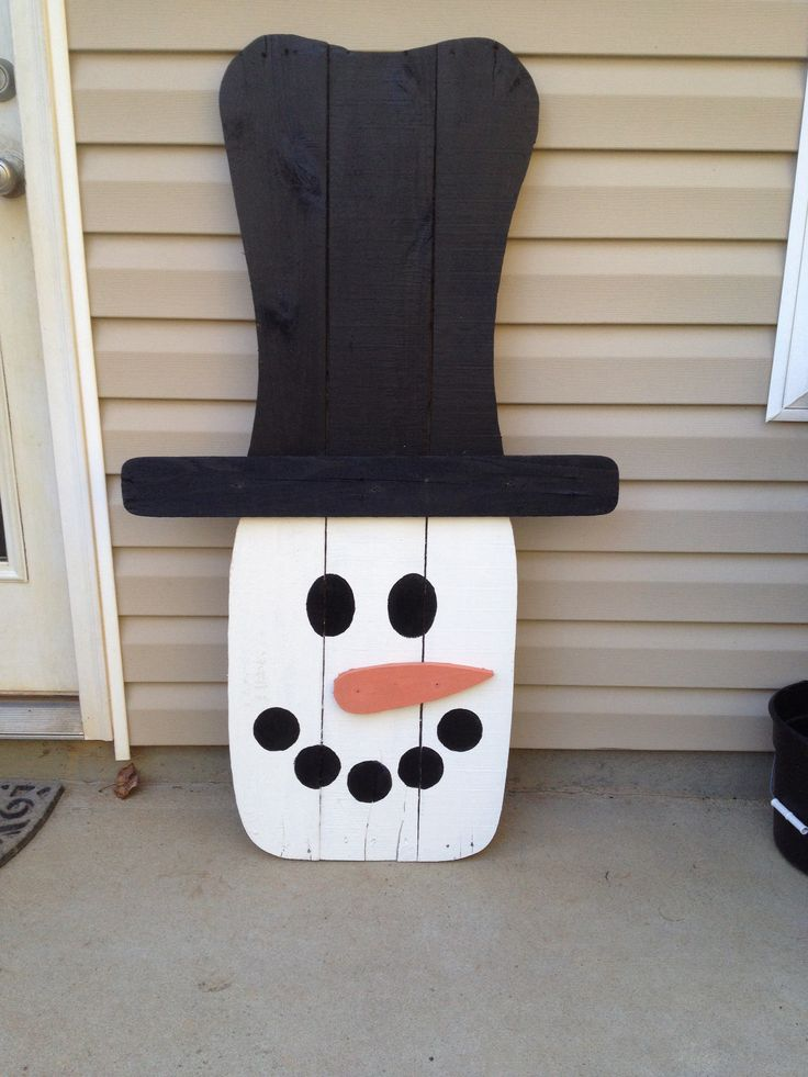 Pallet snowman for How to make a wood pallet snowman